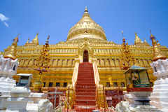 Scenic view of golden Shwezigon pagoda, Bagan, Myanmar Stock Photo
