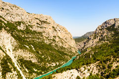 A scenic view of the 'Gorge du Verdon'. In France stock photography