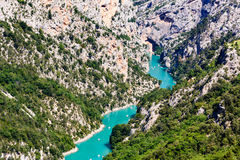 A scenic view of the 'Gorge du Verdon' in Provence, France. A scenic view of the 'Gorge du Verdon' in France stock photography