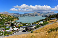 Scenic view of Governors Bay in Canterbury Stock Photo