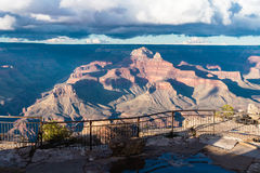 Scenic view on the Grand Canyon in USA at sunset Royalty Free Stock Photo
