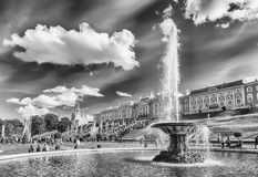 Scenic view of the Grand Cascade,  Peterhof Palace, Russia Royalty Free Stock Image