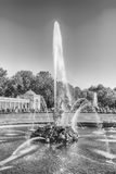 Scenic view of the Grand Cascade,  Peterhof Palace, Russia Royalty Free Stock Photos