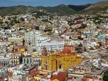 Scenic View of Guanajuato Mexico Royalty Free Stock Photos