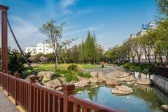 Scenic view of gucheng park shanghai china Stock Photo