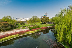 Scenic view of gucheng park shanghai china Royalty Free Stock Image