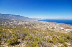 Scenic view of Guimar valley, in south Tenerife, Canary islands, Spain. Royalty Free Stock Photos