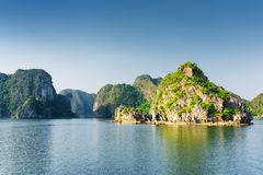 Scenic view of the Ha Long Bay. The South China Sea, Vietnam royalty free stock photos