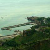 Scenic view of harbor Stock Image