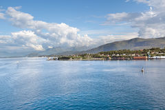 View of harbor from cruise ship, Alesund - Norway - Scandinavia Stock Image