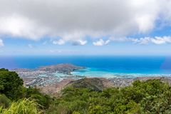 Scenic view of Hawaii Kai town and Maunaohi Ridge Royalty Free Stock Photos