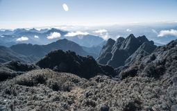 A scenic view of Heaven on earth, Fansipan highest mountain,Sapa,Vietnam. A scenic view of Heaven on earth, Fansipan highest mountain summit of Indochina in sapa stock images