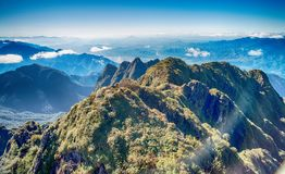 A scenic view of Heaven on earth, Fansipan highest mountain,Sapa,Vietnam. A scenic view of Heaven on earth, Fansipan highest mountain summit of Indochina in sapa royalty free stock photo