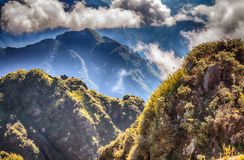 A scenic view of Heaven on earth, Fansipan highest mountain,Sapa,Vietnam stock photography