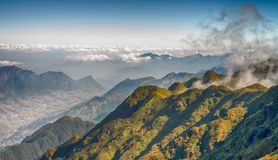 A scenic view of Heaven on earth, Fansipan highest mountain,Sapa,Vietnam stock image