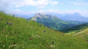 Scenic view of high part of Pyrenees mountains,Spain stock video