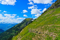 Scenic view, Highline trail, Glacier National Park Stock Photos