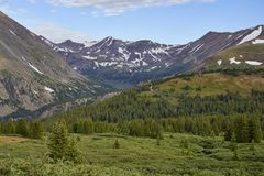Hoosier Pass, Colorado. Scenic view from a hiking trail at Hoosier Pass, located near Breckenridge, Colorado Royalty Free Stock Image