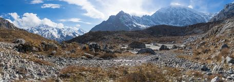 Scenic view of Himalaya mountain in Nepal. Nature reserve Langtang valley trekking travel Stock Photography