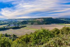 Scenic view from Hindenburg point to the Nahe valley stock photo