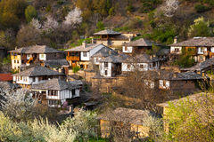 Scenic view of the historical village of Leshten Stock Images