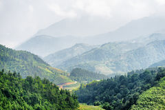 Scenic view of the Hoang Lien Mountains, Sapa, Vietnam Royalty Free Stock Photo