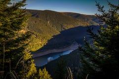 Scenic view from Horni to Dolni nadrz in Dlouhe strane stock photo