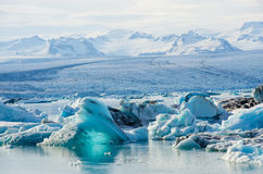 Scenic view of icebergs in Glacier Lagoon, Iceland. Royalty Free Stock Photo