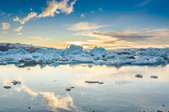 Scenic view of icebergs in glacier lagoon, Iceland Stock Images