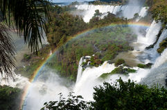 Scenic view of Iguazu waterfalls in Argentina Royalty Free Stock Image