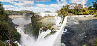 Scenic view of Iguazu waterfalls in Argentina Stock Image