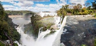 Scenic view of Iguazu waterfalls in Argentina Stock Image