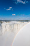 Scenic view of Iguazu waterfalls in Argentina Royalty Free Stock Images