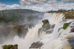 Scenic view of Iguazu waterfalls in Argentina Royalty Free Stock Photos