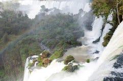 Scenic view of Iguazu waterfalls in Argentina Stock Photos