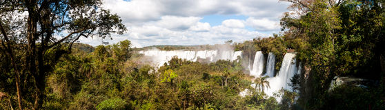 Scenic view of Iguazu waterfalls in Argentina Stock Photography