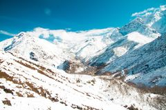 Scenic view of Imlil village in Morocco Royalty Free Stock Image