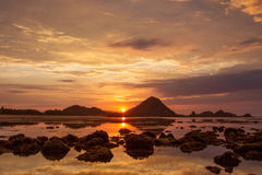 Scenic view at Indian ocean at Indonesia Stock Photo