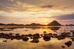 Scenic view at Indian ocean at Indonesia, Lombok island.  Stock Photos