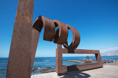 Scenic view of an iron Sculpture on February 23,2016 in Las Americas Boulevard, Tenerife, Spain. ADEJE, SPAIN - FEBRUARY 23: Scenic view of an iron Sculpture on stock photo