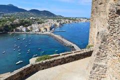 Scenic view of Ischia Ponte, Ischia island (Italy) Royalty Free Stock Photos