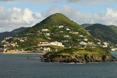 Scenic view of the island of Saint Martin Royalty Free Stock Photography
