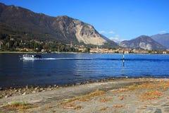 Scenic view of the Isola dei Pescatori Fishermens Island, Lago Maggiore, Italy, Europe Royalty Free Stock Image