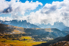 Scenic view of Italian Dolomites mountains Royalty Free Stock Photos