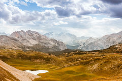 Scenic view of Italian Dolomites mountains Royalty Free Stock Images