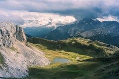 Scenic view of Italian Dolomites mountains Royalty Free Stock Photo