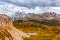 Scenic view of Italian Dolomites mountains Royalty Free Stock Photography