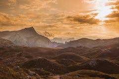 Scenic view of Italian Dolomites mountains Stock Photos