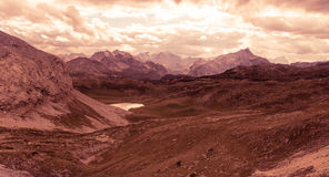 Scenic view of Italian Dolomites mountains Stock Image