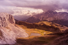 Scenic view of Italian Dolomites mountains Stock Photography